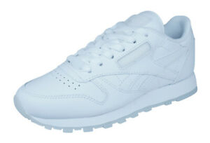 clear and distinctive sells stable quality Details about Reebok Classic Leather Solids Mens Sneakers / Retro Sports  Shoes - All White