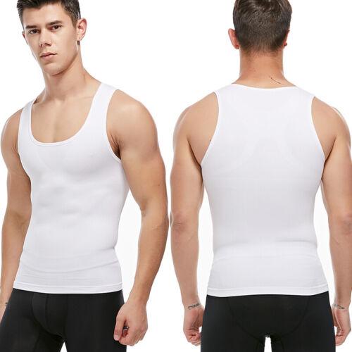 Men/'s Body Slimming Tummy Shaper Underwear shapewear Waist Trainer T-Shirt Vests