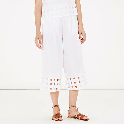 Humor Warehouse White Cutwork Culottes Sizes 8/10/12/14/16 Rrp £45 Hitze Und Durst Lindern.