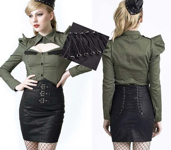 Jupe Größe haute gothique lolita burlesque pinup couture sangle corset Punkrave