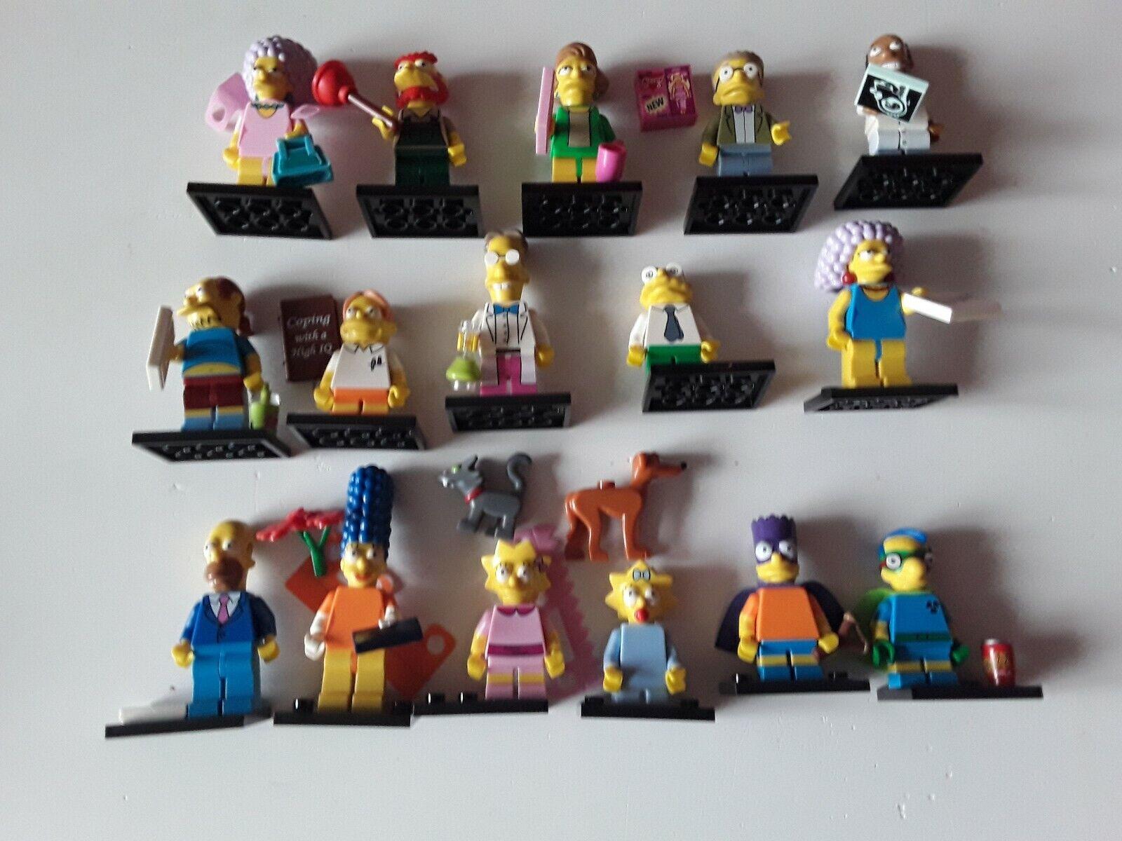 Lego mini figures simpsons series 2 full complete set