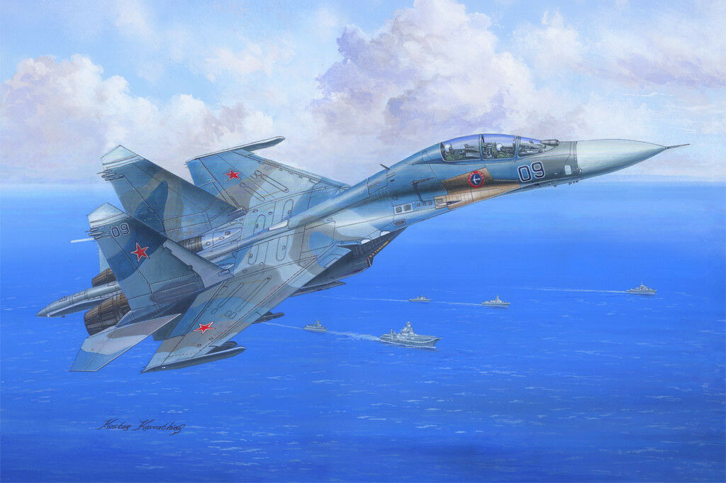 81713 Hobby Boss SU-27UB Flanker C Training Airplane 1 48 Model Plastic Kit DIY