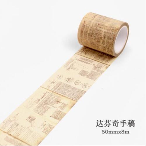 DIY  Gothic style Retro Washi Paper Tape Album diary Scrapbooking stickers 8M
