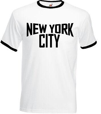 New York City Retro 70/'s Style Ringer T-Shirt as worn by John Lennon