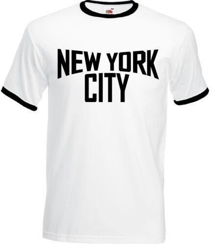 As Worn By John Lennon New York City Mens Ringer T-Shirt The Beatles Imagine