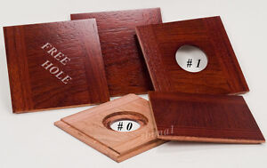 "1 Wooden Lensboard 4-13/16""x 4-3/4"" for SENECA Improved View Camera 8x10""/JATOBA"