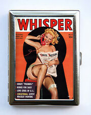 Pin up pinup Cigarette Case Wallet Business Card Holder vintage retro rockabilly