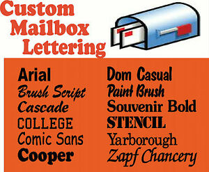 Custom Vinyl Lettering For Mailboxes Decal Sticker EBay - Custom vinyl decals for mailbox