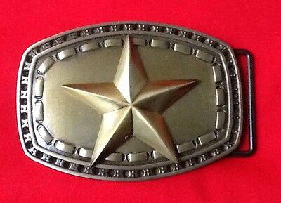3D GOLD SHERIFF STAR COWBOY WILDWEST WESTERN FANCY DRESS BELT BUCKLE