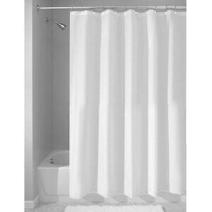 Image Is Loading InterDesign Mildew Free Waterproof Fabric Shower Curtain  Liner