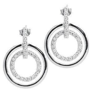 Damen-Ohrstecker-echt-Silber-925-Sterlingsilber-rhodiniert-mit-Zirkonia-Ohrringe