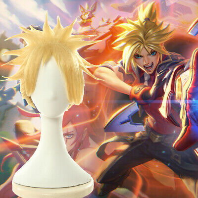 Free wig Cap Anime League of Legends Ezreal Short Cosplay costume Wig