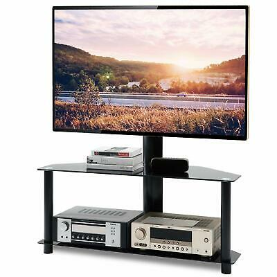 Floor TV Stand with Swivel Mount Height Adjustable Bracket for 32 to 65 inch TV
