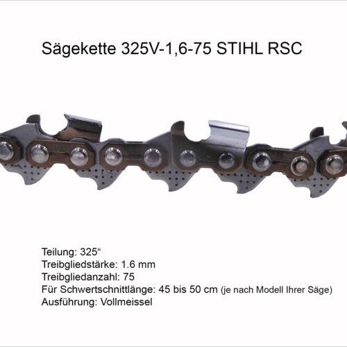 RS Stihl Sägekette Rapid Super 325 1.6 mm 75 TG Vollmeissel