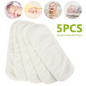 5PCS-Baby-Washable-Cloth-Diaper-Reusable-Nappy-Insert-Cotton-3-Layers-Diapers-1
