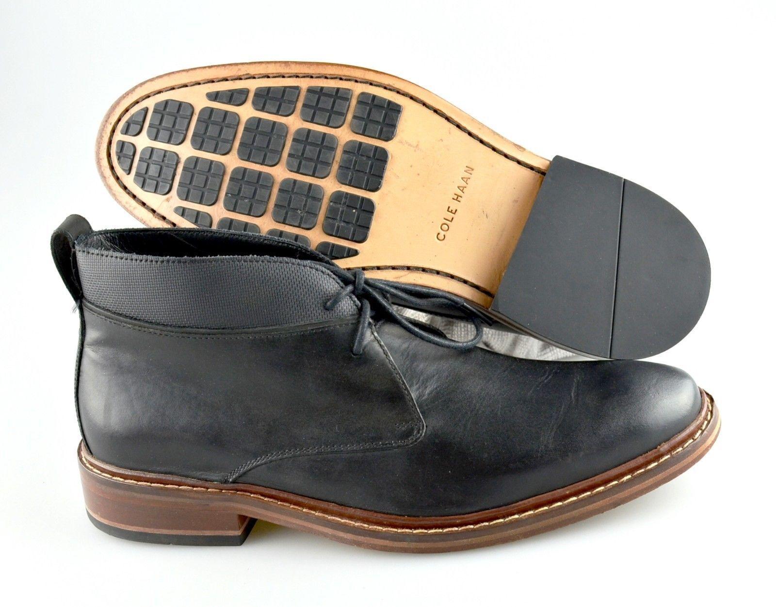 Men's COLE HAAN 'Colton' Negros Cuero Chukka botas Tamaño nos 8.5 - D