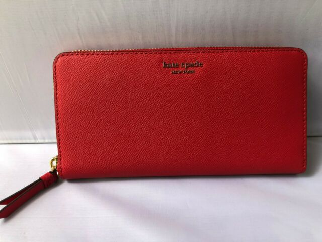 NWT Kate Spade New York Large Continental Leather Wallet Cameron Zip Around $189