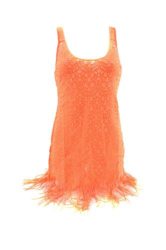 L/'Agent by Agent Provocateur Women/'s Lace Slip Neon Orange