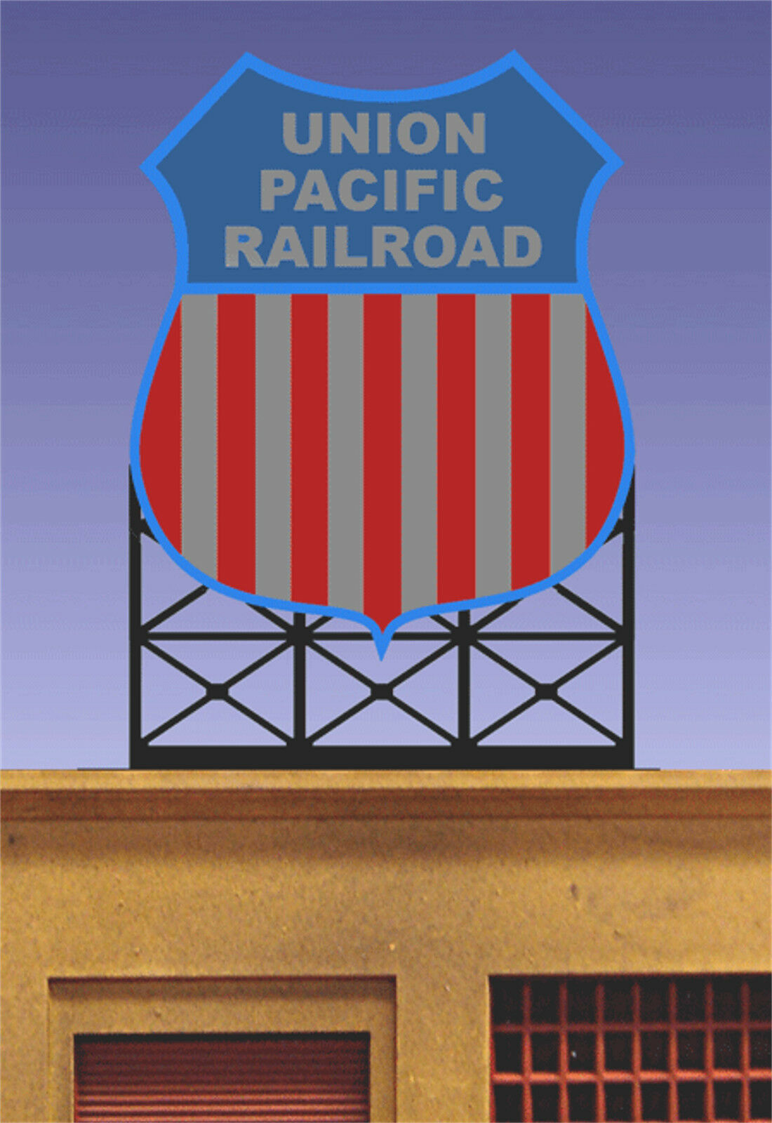 Union Pacific Railroad Billboard MILLER ENGINEERING Animated Neon Sign