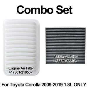 For-Corolla-09-2019-2012-2013-2014-2015-2016-1-8L-Cabin-Engine-Air-Filter