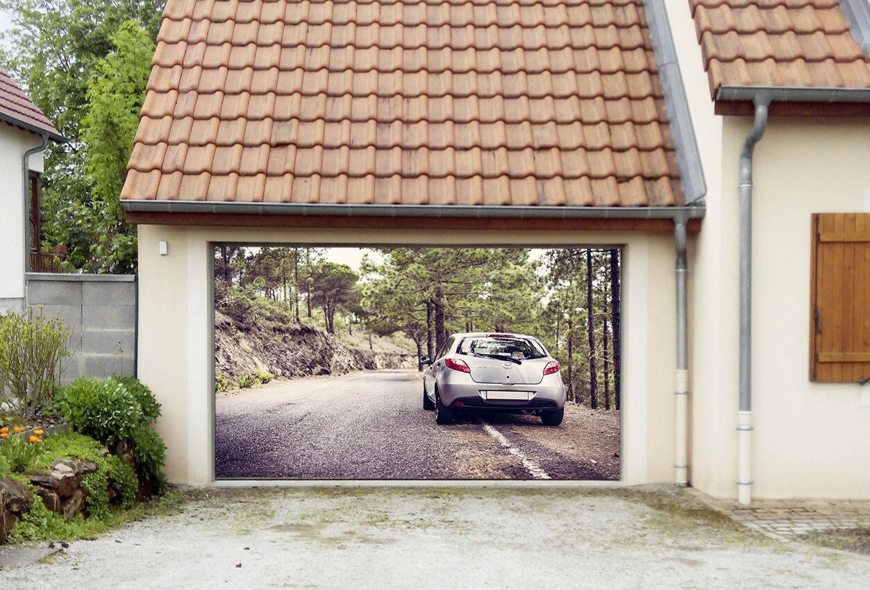 3D Wood Car 873 Garage Door Murals Wall Print Decal Wall AJ WALLPAPER AU Carly