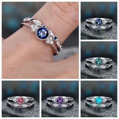 Fantastic 925 Silver Women Wedding Ring White Sapphire Fashion Jewelry Size 6-10