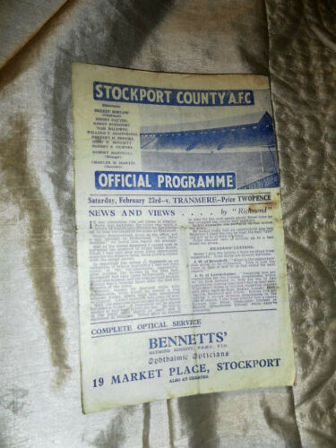 19456 DIV 3 NORTH STOCKPORT COUNTY V TRANMERE ROVERS 23246