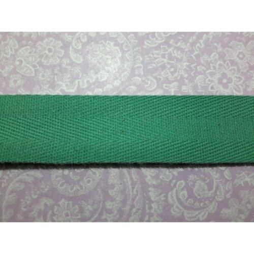 Metri 5 circa fettuccia passamaneria tessuto cotone verde in spiga alta cm 8513