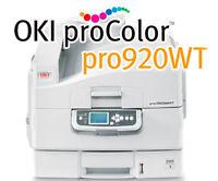 Okidata Pro 920wt White Toner Printer With 1 Year On Site Warranty 62438901