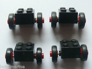 Lego-4-old-bricks-with-single-wheels-4-essieux-roues-614-357-680-361-354