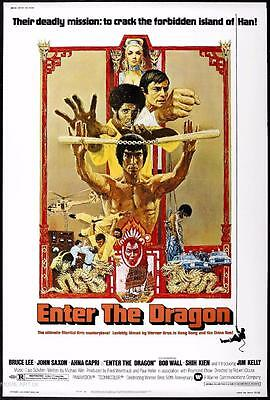 ENTER THE DRAGON VINTAGE MOVIE POSTER  FILM A4 A3 ART PRINT CINEMA