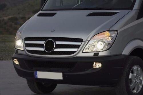 Cromo barras calandra para Mercedes Sprinter w906 2006-2013 acero inoxidable 4 pzas.