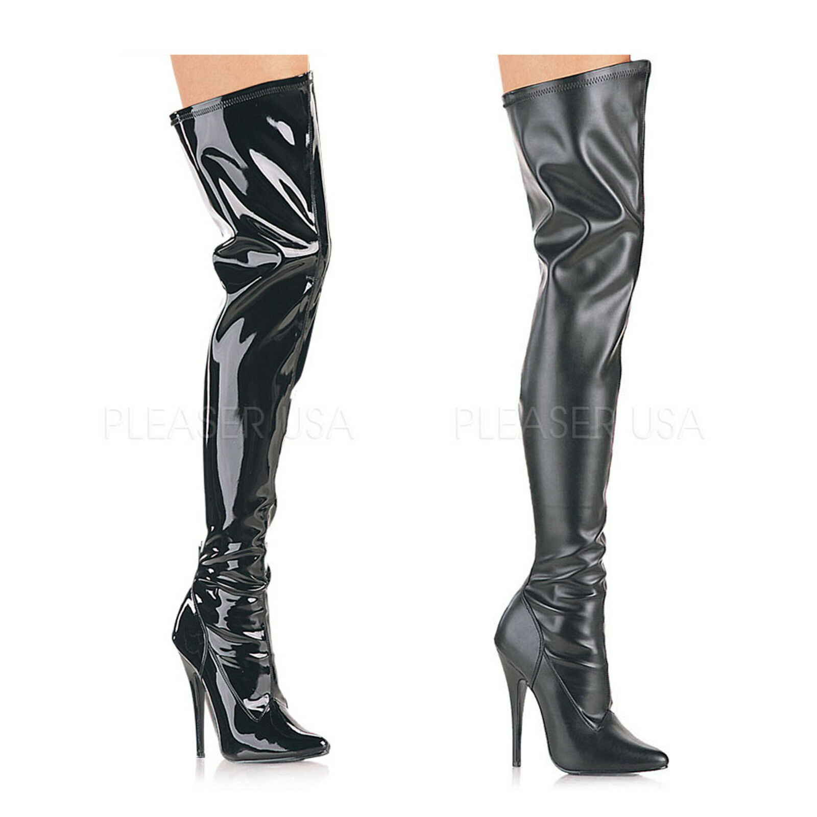 DEVIOUS - Domina-3000 Domina-3000 Domina-3000 Sexy Thigh High bottes With Inner Zipper af9fec