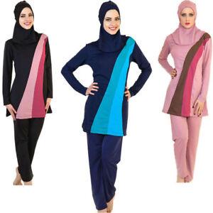 Image is loading Women-Islamic-Muslim-Full-Cover-Swimwear-Modest-Burkini-  sc 1 st  eBay & Women Islamic Muslim Full Cover Swimwear Modest Burkini Swimming ...