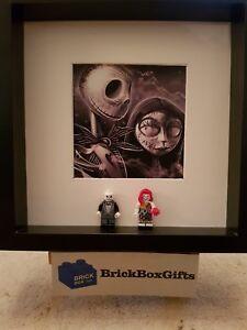 Nightmare Before Christmas Minifigure 3d Frame Jack Sally Drawn Tim