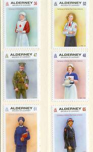 ALDERNEY-Croix Rouge-UNIFORMES Neuf SANS Charnière LOT DE 6-afficher le titre d`origine GWLmNpZo-07154257-338402310