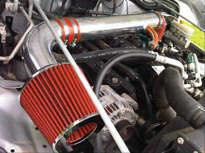 BCP RED 97-06 Jeep Wrangler 2.5L L4 4.0L V6 Short Ram Air Intake Kit Filter