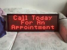 Led Sign Full Color Scrolling Programmable Message Board 14x40 New