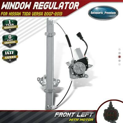 Mexico Versa 2007-2013 Front Passenger Side A-Premium Electric Power Window Regulator with Motor for Nissan Tiida