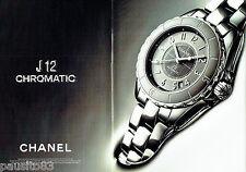 PUBLICITE ADVERTISING 086  2011  Chanel  montre J12 chromatic ( 2p)