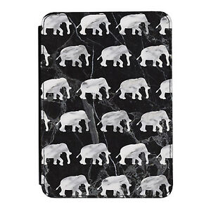 Grey-Marble-Elephants-Animals-Kindle-Paperwhite-Touch-PU-Leather-Flip-Case-Cover