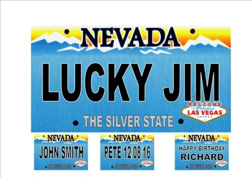 Personalsed Fun Novelty  American Nevada Licence Plate Las Vegas Number Plate