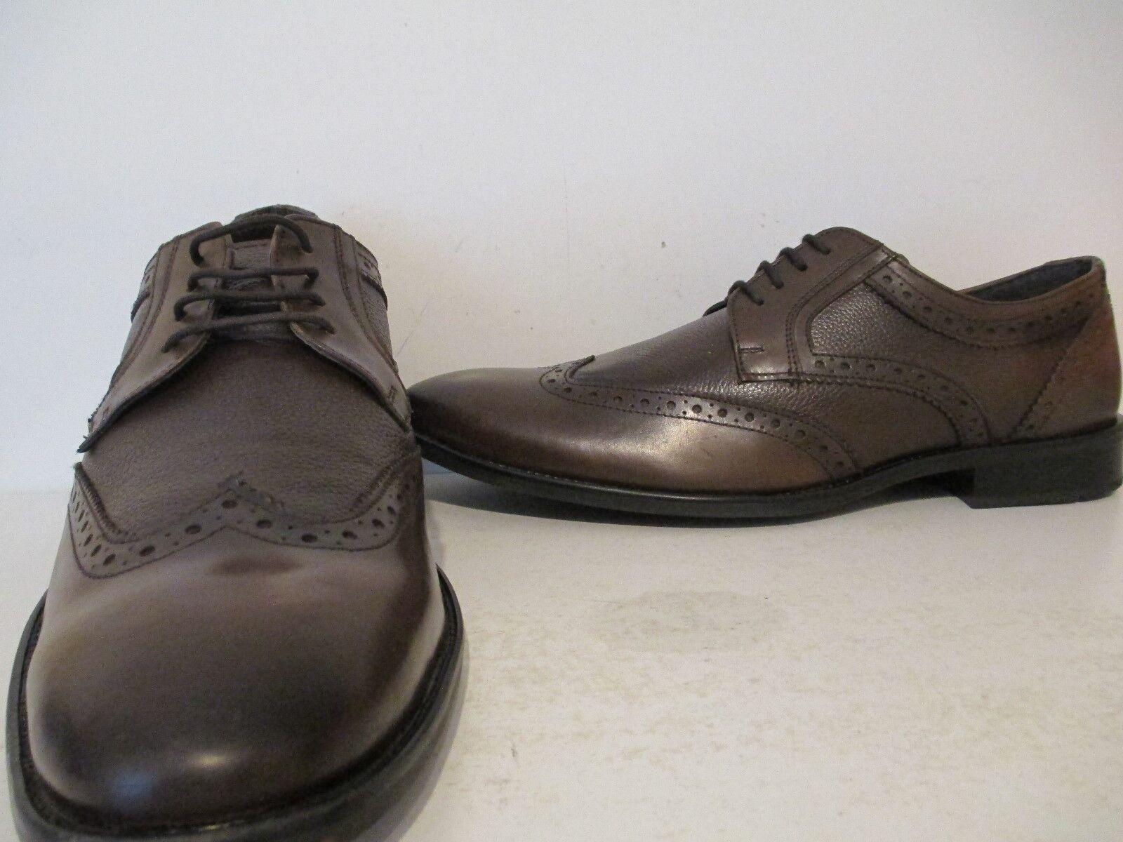 Giorgio Brutini para hombre Anders cuero punta del ala marrón Esmoquin Oxfords marrón ala negro tamaño 15 M 5ae397