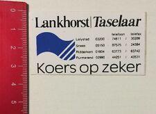 Aufkleber/Sticker: Lankhorst/Taselaar - Koers Op Zeker (04061672)