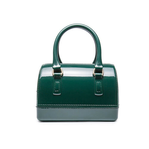 Candy Color PVC Jelly Bag Pillow Handbag Women Sacthel Tote Bag Shoulder Bags C8