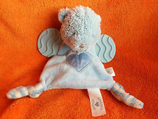 Bruin Toys r Us Snuggle Chums Blue Bear Baby Comforter Soft Toy Teether