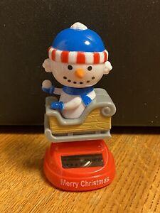 Solar Powered Dancing Toy Bobblehead New 2020 CHRISTMAS Santa In Sled