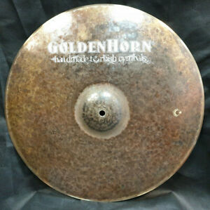 "GoldenHorn Master Vintage 18"" Crash Ride Becken 1400g Piatto Made in Istanbul"