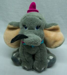 Disney-Store-NICE-DUMBO-ELEPHANT-W-FEATHER-10-034-Plush-STUFFED-ANIMAL-Toy