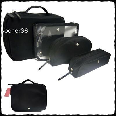 NEW Kate Spade Black Nylon Pouch Case Makeup Bag NWT /& Logo Store Bag